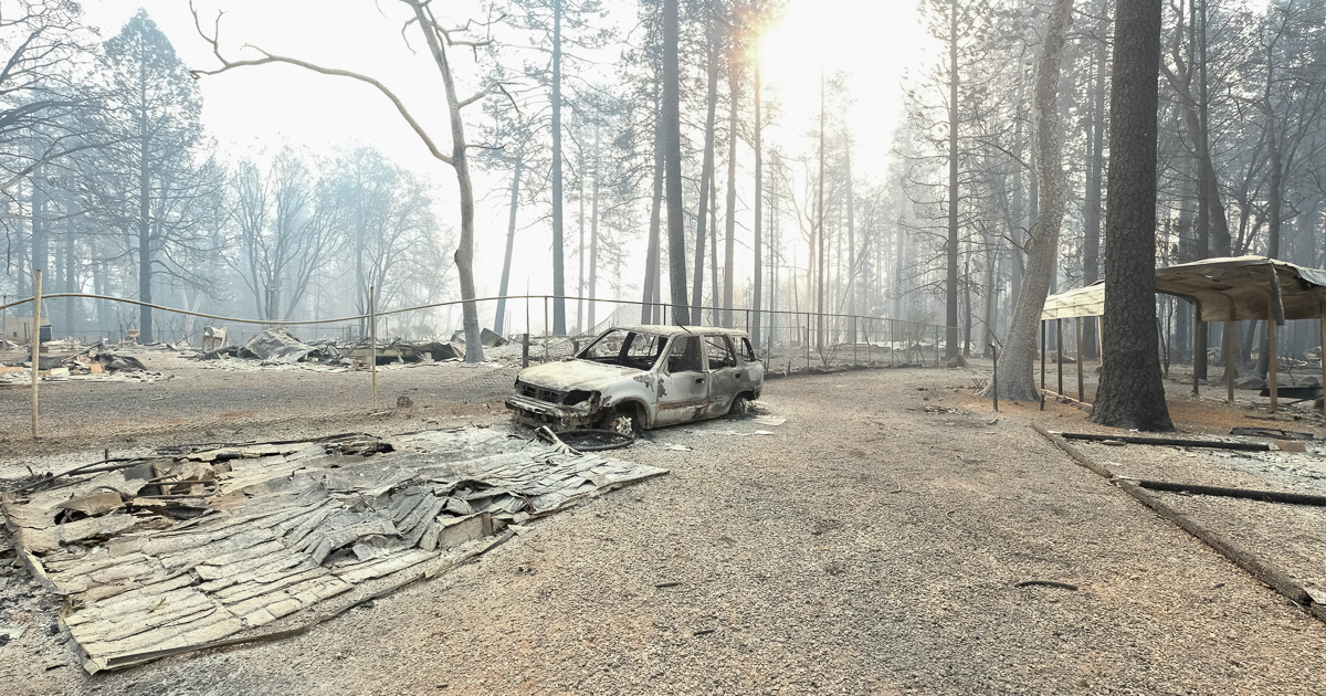 burned car paradise california